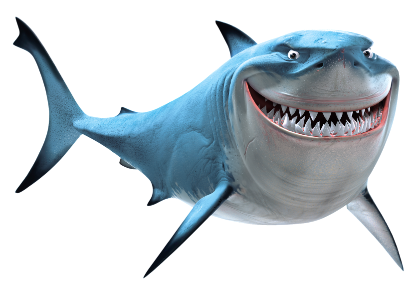 Not today, Bruce! (Fun fact: both Pixar's animated character and Spielberg's robot shark in Jaws are named Bruce)