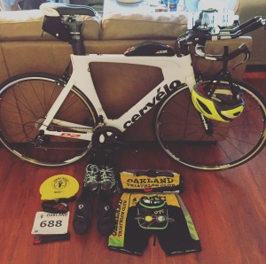 Lessons learned like, minimizing the crap you bring to a race. Essentials: Bike, Helmet, Bike Shoes and Running Shoes. Everything else you can make do without.